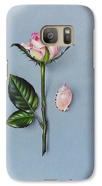 Galaxy Case featuring the drawing Shades Of Pink by Elena Kolotusha