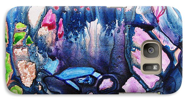 Galaxy Case featuring the painting Shades Of Tiffany by Joan Hartenstein