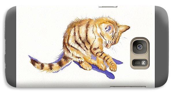 Cat Galaxy S7 Case - Shadow Boxing by Debra Hall