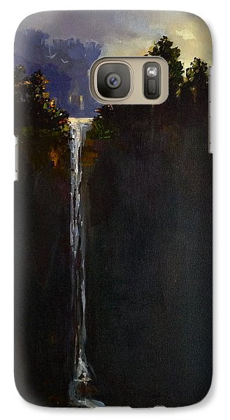 Galaxy Case featuring the painting Shadow Falls by Helen Harris