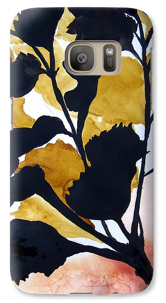 Galaxy Case featuring the painting Shadow Hibiscus by Lil Taylor