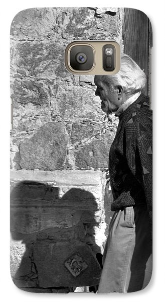 Galaxy Case featuring the photograph Shadow Of A Man by Jim Walls PhotoArtist