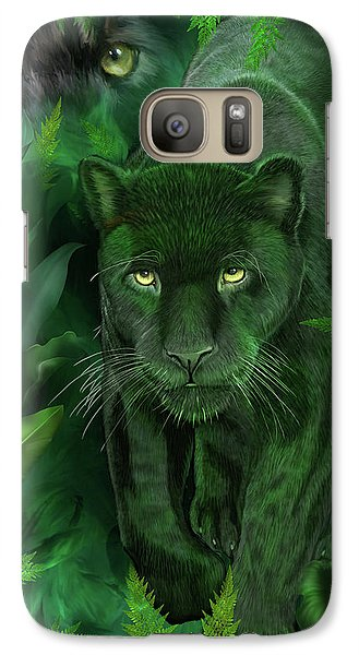 Galaxy Case featuring the mixed media Shadow Of The Panther by Carol Cavalaris