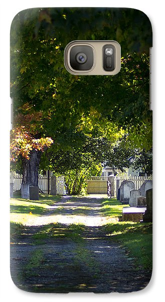 Galaxy Case featuring the photograph Shady Lane by Dick Botkin