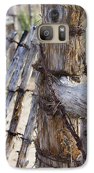 Galaxy Case featuring the photograph Shaggy Fence Post by Phyllis Denton