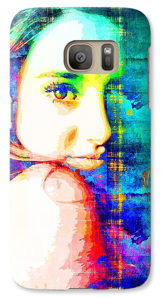 Galaxy Case featuring the mixed media Shailene Woodley by Svelby Art
