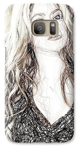 Shakira - Pencil Art Galaxy S7 Case by Raina Shah
