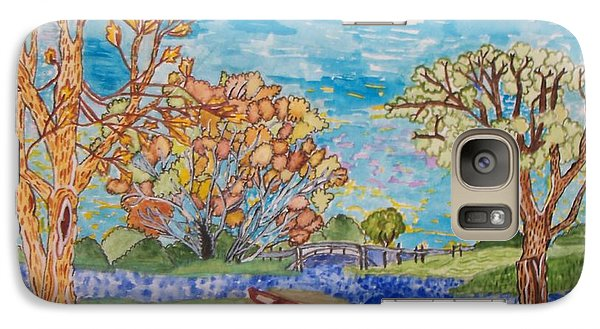 Galaxy Case featuring the painting Shall We Go For A Summer Walk by Connie Valasco