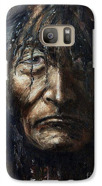 Galaxy Case featuring the painting Shaman by Arturas Slapsys