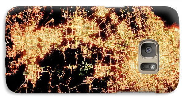 Galaxy Case featuring the photograph Shanghai From Space by Delphimages Photo Creations