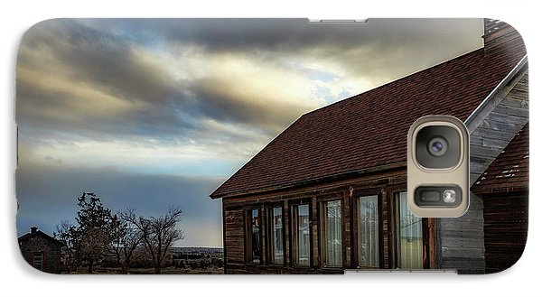 Galaxy Case featuring the photograph Shaniko Schoolhouse by Cat Connor