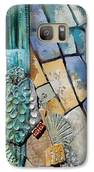 Galaxy Case featuring the painting Shards Water Clay And Fire by Suzanne McKee