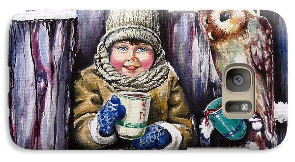 Galaxy Case featuring the painting Sharing A Hot Chocolate by Geni Gorani