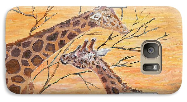 Galaxy Case featuring the painting Sharing by Elizabeth Lock