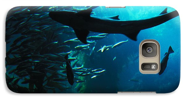Galaxy Case featuring the photograph Shark Above by Carl Purcell
