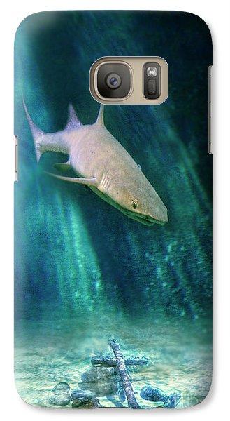 Galaxy Case featuring the photograph Shark And Anchor by Jill Battaglia