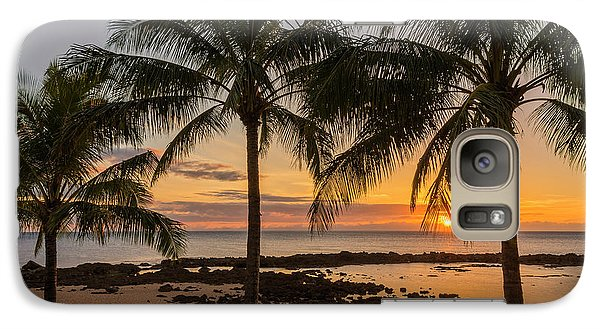 Sharks Galaxy S7 Case - Sharks Cove Sunset 4 - Oahu Hawaii by Brian Harig