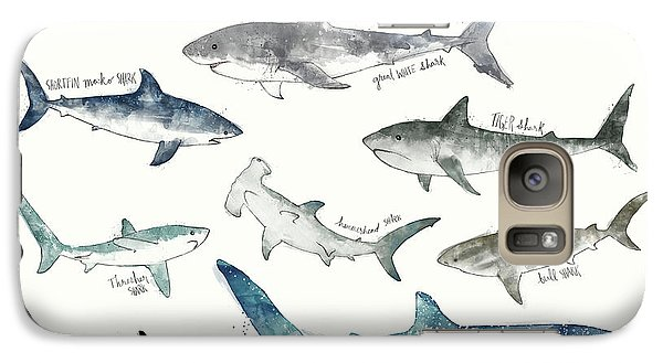 Sharks Galaxy S7 Case - Sharks - Landscape Format by Amy Hamilton