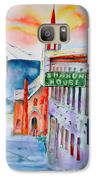 Galaxy Case featuring the painting Sharon House by Sharon Mick