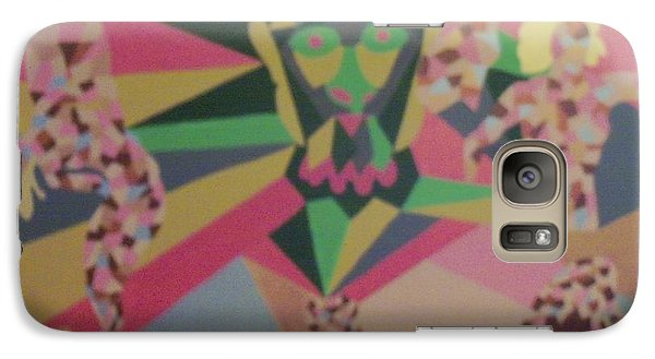 Galaxy Case featuring the painting Shattered by Erika Chamberlin