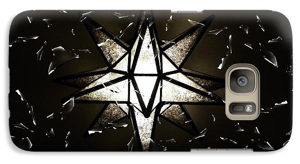 Galaxy Case featuring the photograph Shattered Glass by Joseph Frank Baraba
