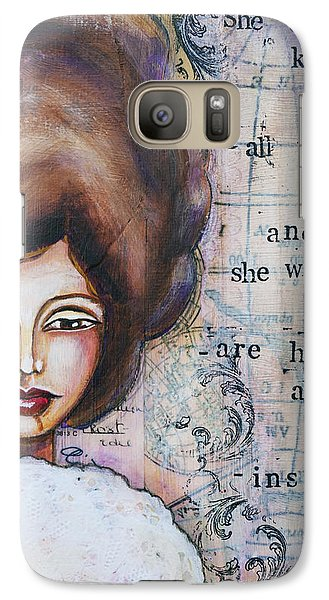 Galaxy Case featuring the mixed media She Didn't Know - Inspirational Spiritual Mixed Media Art by Stanka Vukelic