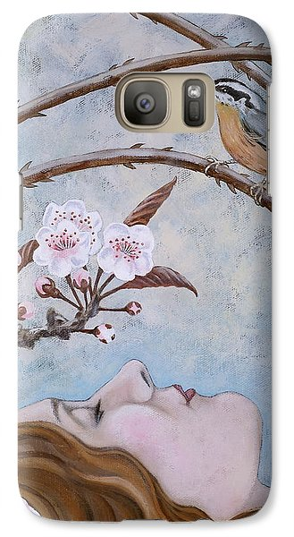 Galaxy Case featuring the painting She Dreams The Spring by Sheri Howe