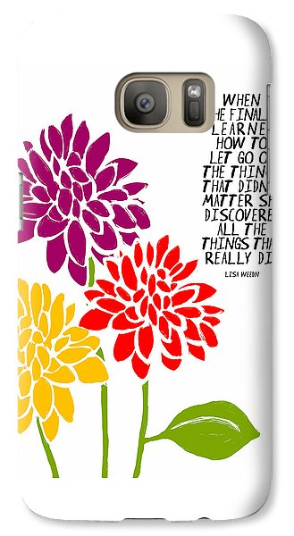 Galaxy Case featuring the painting She Finally Learned by Lisa Weedn