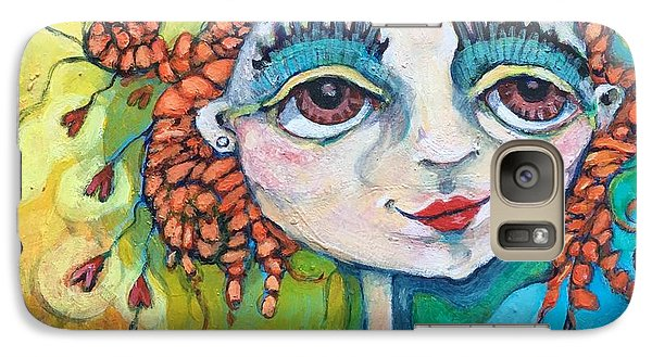 Galaxy Case featuring the painting She Has Lots Of Heart To Give by Michelle Spiziri