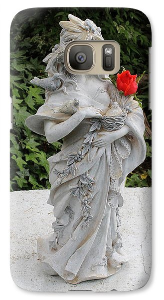 Galaxy Case featuring the photograph She Includes The Rose by Marie Neder