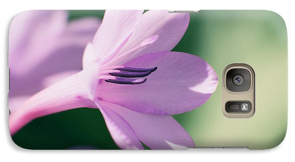 Galaxy Case featuring the photograph She Listens Like Spring by Linda Lees