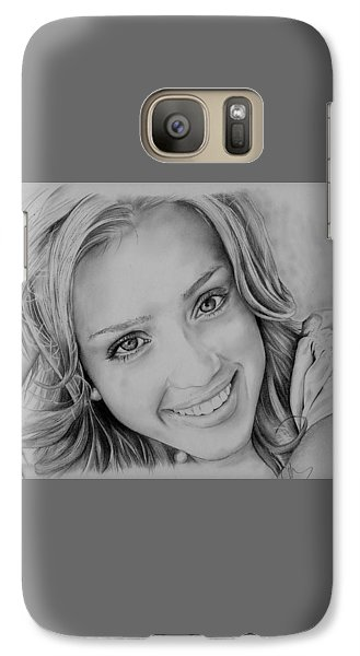 She Smiles Galaxy S7 Case by Jessica Perkins