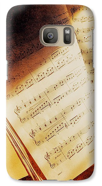 Galaxy Case featuring the photograph Sheet Music by Eleanor Abramson