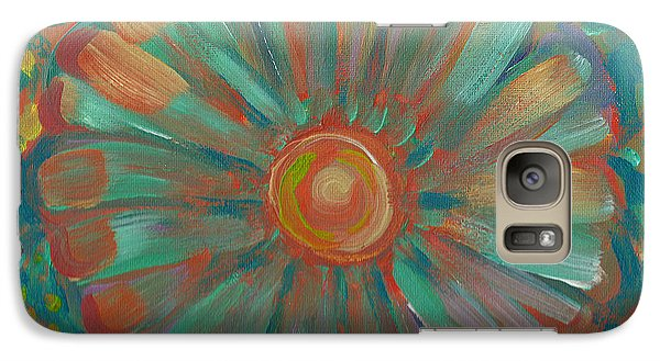 Galaxy Case featuring the painting Shell Flower by John Keaton