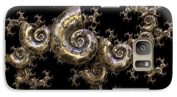 Galaxy Case featuring the digital art Shell Fractal Dragon by Manny Lorenzo