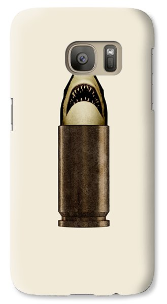 Sharks Galaxy S7 Case - Shell Shark by Nicholas Ely