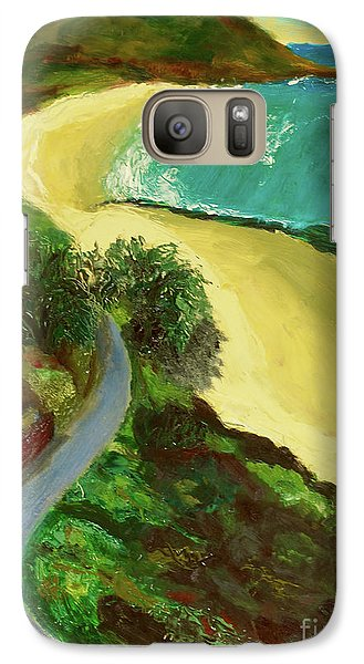 Galaxy Case featuring the painting Shelly Beach by Paul McKey