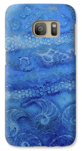 Galaxy Case featuring the painting Shells Galore by Mary Sullivan