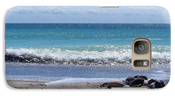 Galaxy Case featuring the photograph Shells On The Beach by Sandi OReilly