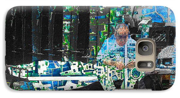 Galaxy Case featuring the mixed media Shelter by Tony Rubino