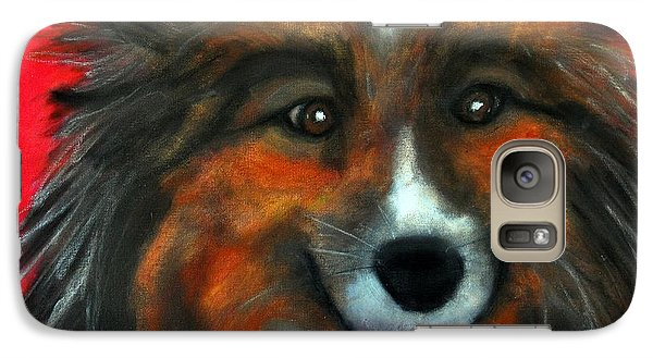 Galaxy Case featuring the painting Sheltie- Maggie by Laura  Grisham