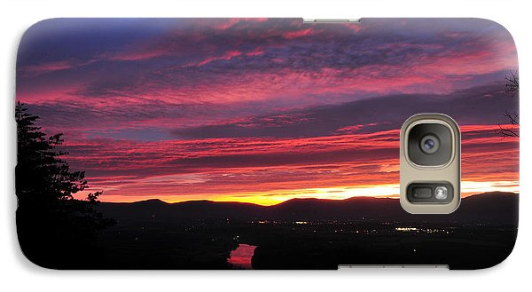 Galaxy Case featuring the photograph Shenandoah Morning Glow by Lara Ellis