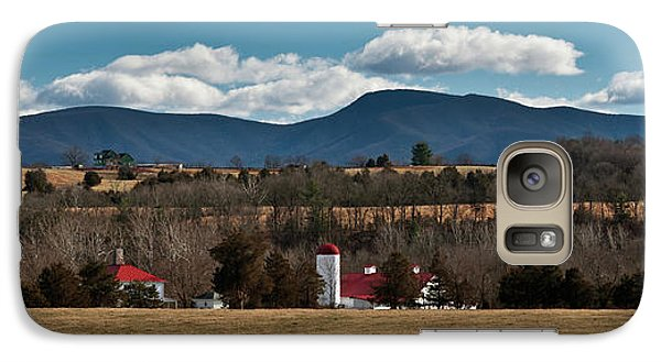 Galaxy Case featuring the photograph Shenandoah Valley Farm Winter Skies by Lara Ellis