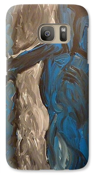 Galaxy Case featuring the painting Shepherd by Joshua Redman