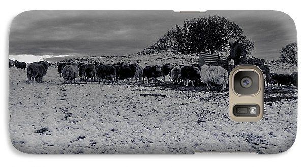 Galaxy Case featuring the photograph Shepherds Work by Keith Elliott