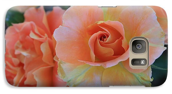 Galaxy Case featuring the photograph Sherbert Rose by Marna Edwards Flavell