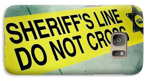 Galaxy Case featuring the photograph Sheriff's Line - Do Not Cross by Nina Prommer