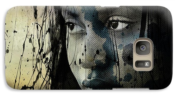 Galaxy Case featuring the mixed media She's Out Of My Life  by Paul Lovering