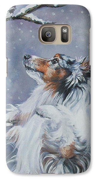 Shetland Sheepdog With Chickadee Galaxy S7 Case