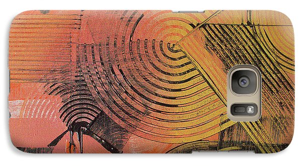 Galaxy Case featuring the painting Shimmer by Melissa Goodrich